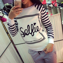 Casual Women Striped Printed Sweatshirt Hoodies Sudaderads Tracksuits Pullover Hoody Sweater Plus Size
