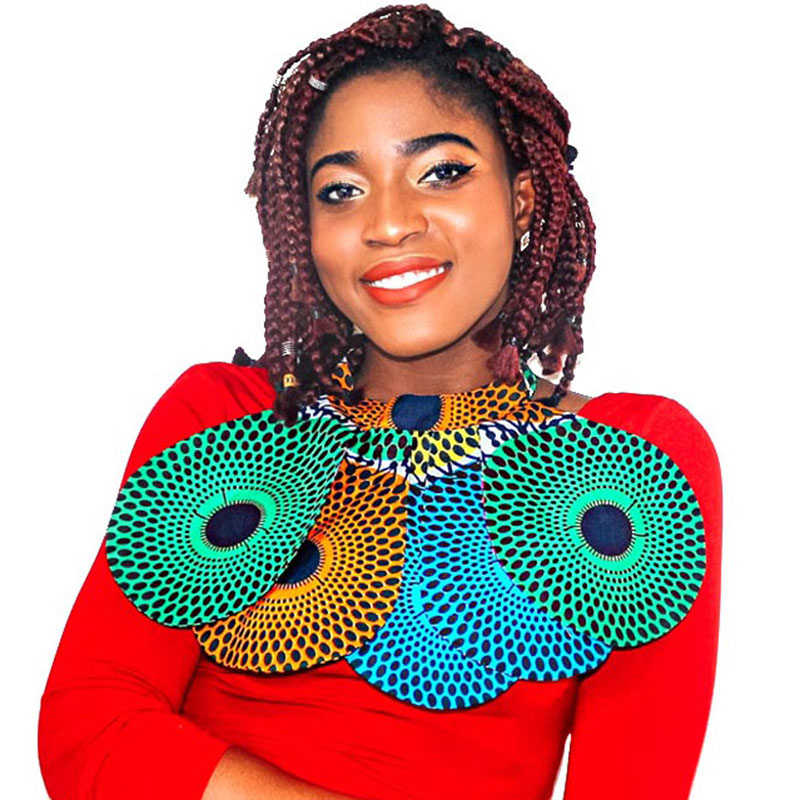 African Detachable Collar Dashiki Necklaces Print Ankara False Collar Round Neck Collar Handmade Jewelry Fashion Women Necklace