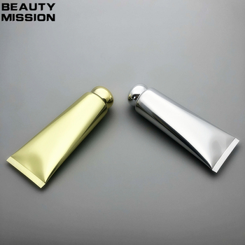 100ml 30pcs/lot Empty Shiny Gold/Silver Soft Tube For Emulsion/CC Cream Cosmetic Packaging Tube Aluminum Plastic Soft tube