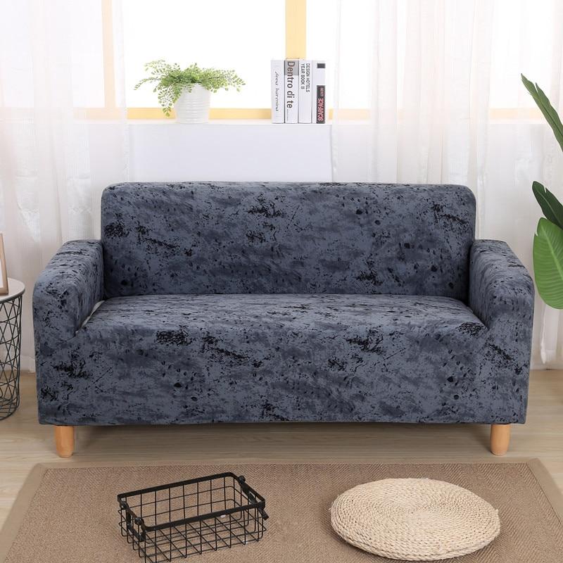 Einfache Inkjet Muster Elastischen Stretch Baumwolle Sofa Abdeckung