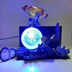 Naruto Action Figure Minato VS Obito Rasengan Led Licht Scène Speelgoed Anime Naruto Shippuden Beeldje Uchiha Obito Model Speelgoed Gift