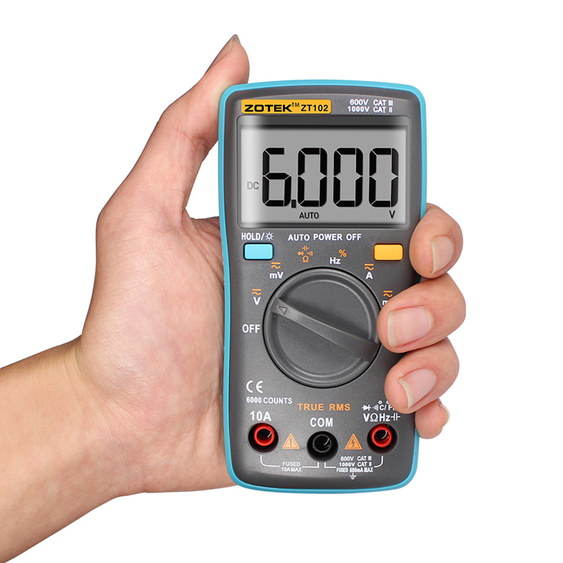 High Frequency Voltmeter : High quality zt digital multimeter counts