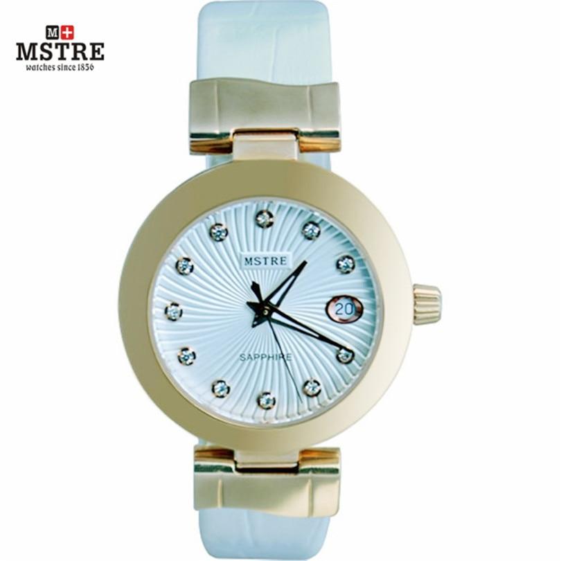 Watches women Quartz Wrist watches clock Fashion Leather Band style watch Waterproof Luxury Brand Rhinestone Ladies quartz-watch стоимость
