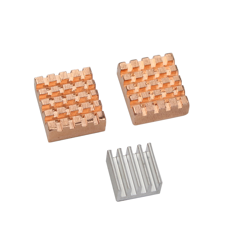 3 Pcs Raspberry Pi 3 Model B Heatsink 2 Pcs Pure Copper + 1 Pcs Aluminum Heat Sink Cooling for Raspberry Pi 2 boy and going solo