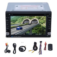 6.2 Inch Double Din In Dash Car Auto CD DVD Player Radio Music Stereo 6002B GPS + 8GB Map Card + Rear Camera