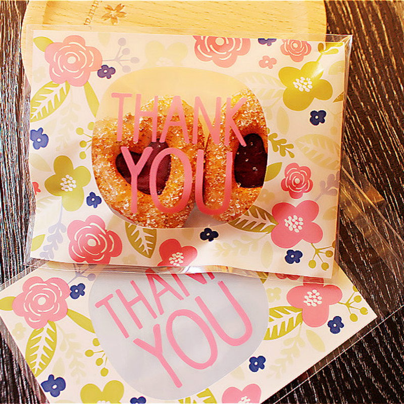 12PC Plastic Biscuit Cookie Bag Baking Packs Sac Plastique Cute Flower  Pattern Packaging for Cookies Bolsas de Regalo f8a546fcb2a11