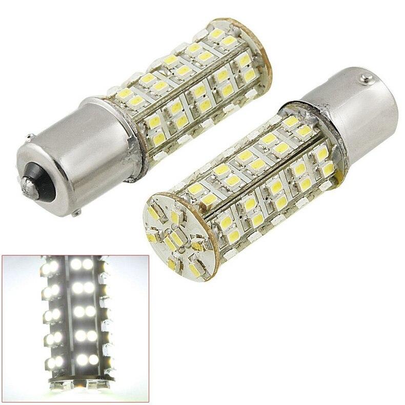 2 Pcs LED Light Bulb 1156 P21W Ba15s 68 SMD LED Brake Tail Turn Signal Rear Lamp ALI88