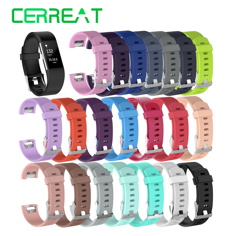 Cerreat Smart Accessories Small Large Size Silicone Wrist Strap Replacement Wristband Watchband For Fitbit Charge 2 Smart Band