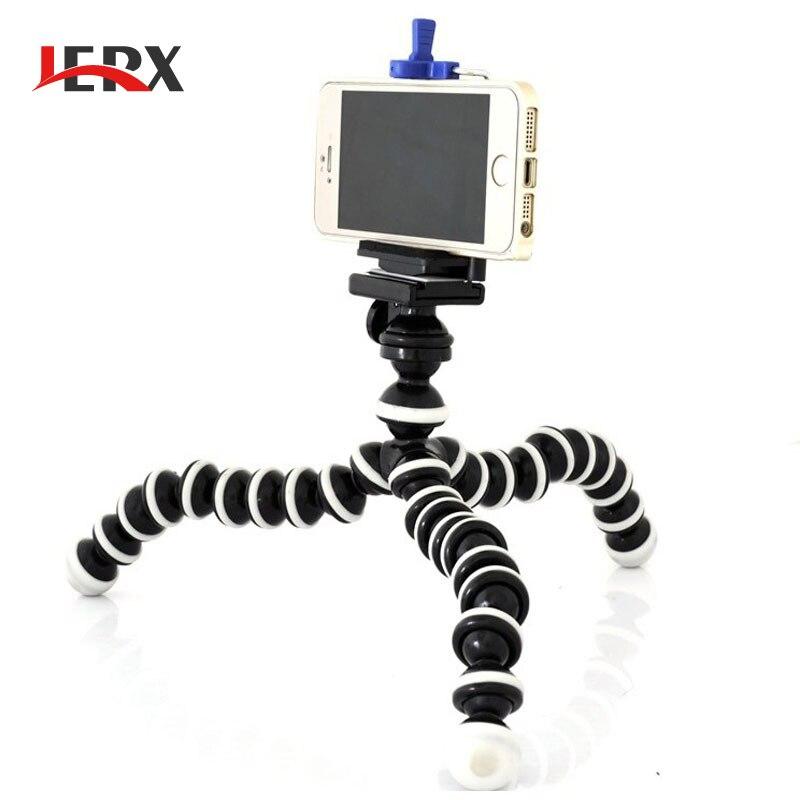 Jerx Малый Осьминог Гибкий цифровой Камера стенд монопод мини-штатив с держателем для iPhone 5 6 7 и сотовый телефон держатель ...