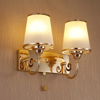 LED new  light golden wall quality fashion modern double bedroom wall lamp bedside bedside special offer FG677l
