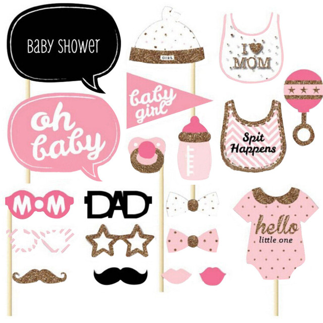 20pcs Baby Shower Favors Photo Booth Props Its A Boy Girl Fun