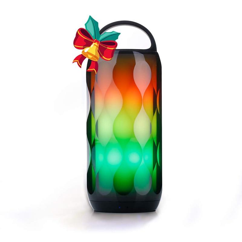LED haut-parleur Bluetooth RGB tactile veilleuse 5 W haut-parleur, Portable 6 couleurs Smart LED thèmes lampe de chevet, haut-parleur