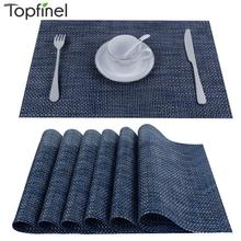 8pcs/lot PVC kitchen dinning Placemats for Table mat manteles individuales doilies cup mats coaster water proof table cloth pad