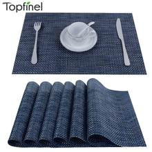 Topfinel PVC kitchen Dinning Placemats for Table Mat Manteles Individuales Doilies Cup Mats Coaster Water Proof Table Cloth Pad