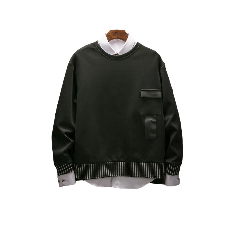 2019 the spring and autumn period and the new fleece adolescent leisure fashion sets men round collar 43