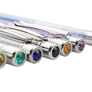 Image 5 - Bolígrafo decorativo de diamante de cristal para estudiantes