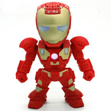 Hands Free Wireless Bluetooth Speaker LED Transformers Iron Man Robots Subwoofer With FM Radio Support TF Card for Phone PC hs t5 2 in 1 wireless bluetooth 3 0 radio speaker phone display stand with hands free calls for home office