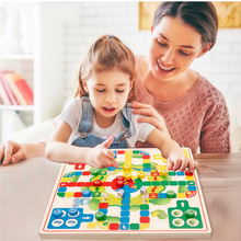 2 in 1 Multi-function Wooden Chess Kids Child Educational Toy Parent-child Interaction Puzzle Game Flight Chess children s 16 in 1 multi function board game board game parent child puzzle early education chess toys children s gifts