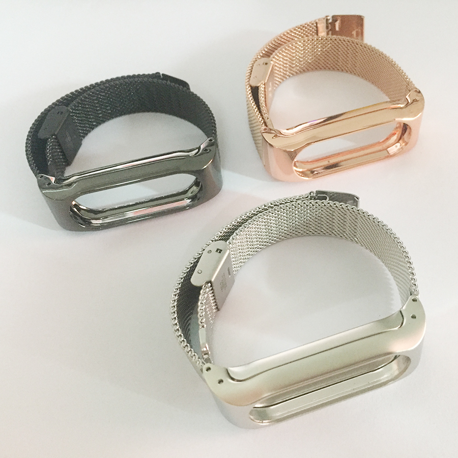 LAOKE Metal Strap For mi band 2 Wristbands Stainless Steel Bracelet For Xiaomi Mi Band 2 Replace Accessories gold For MiBand 2 аксессуар чехол zibelino для huawei mediapad m5 8 4 tablet black zt hua m5 8 4 blk