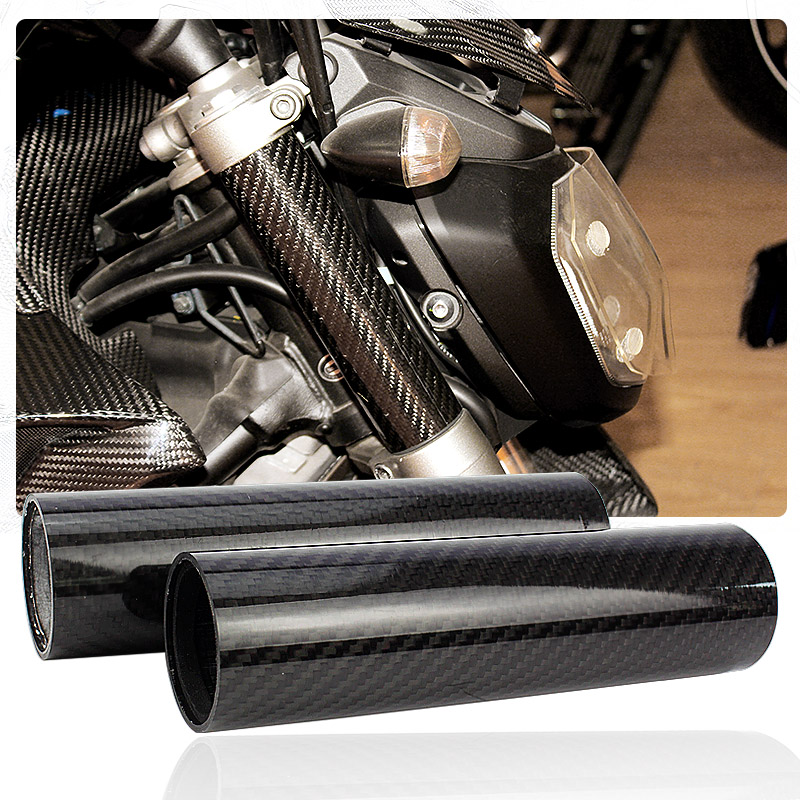 Motorcycle Real Carbon Fiber Front Fork Tube Slider Cover For YAMAHA MT-07 FZ-07 MT07 FZ07 MT 07 2014-2018 2015 2016 2017 monkey shaped ultrasonic mosquito repeller with neck loop