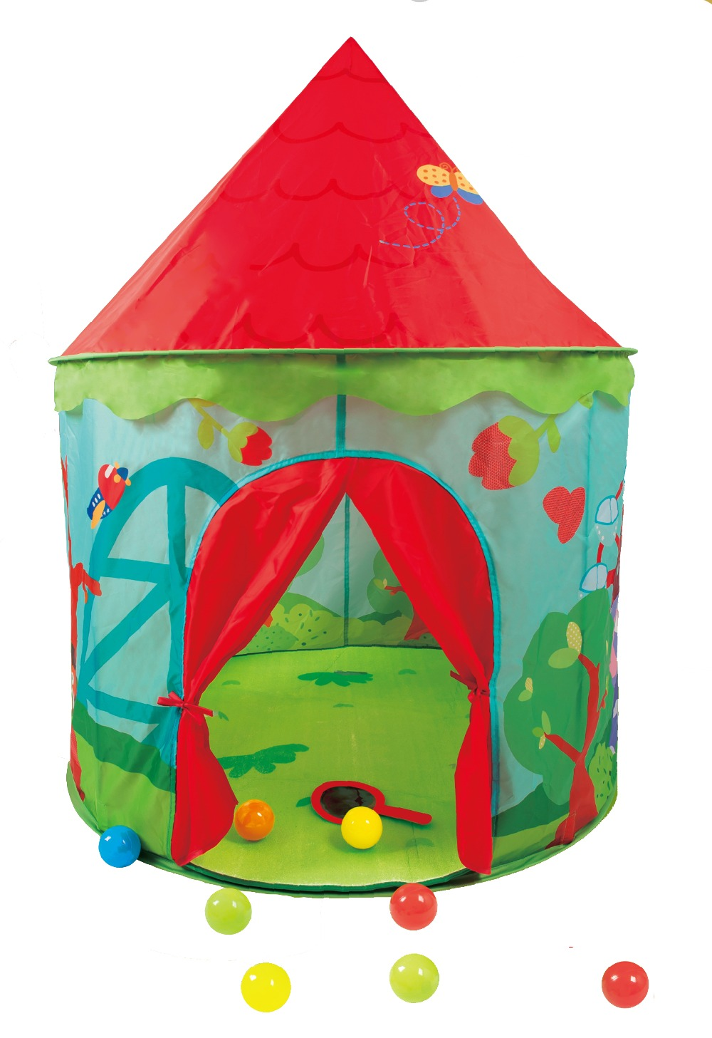 ФОТО New Cartoon Princess Castle Kids Tents Funny Can Shooting Play House For Children Game Tent Kids Teepee Tents D419
