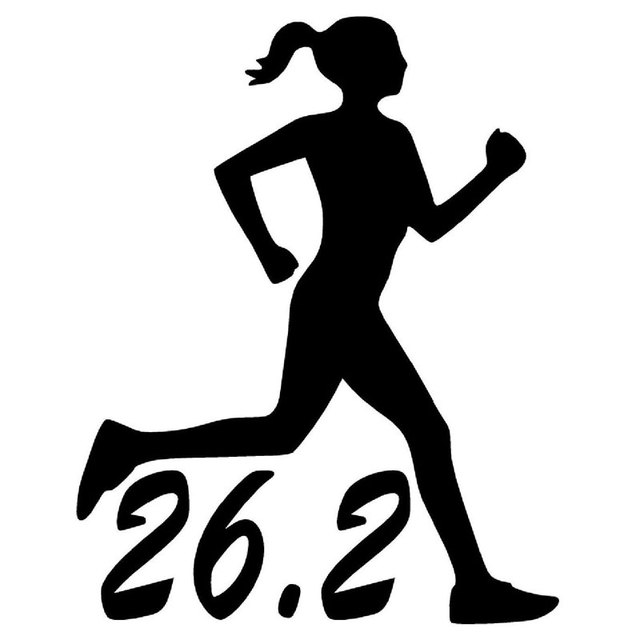 12 2cm15 5cm 26 2 marathon runner car decals running woman motorcycle car sticker decal