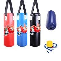 60cm Kids Punching Empty Sandbag Cute Cartoon Printing Water Filling Bag Children Air Inflation Kick Sandbag