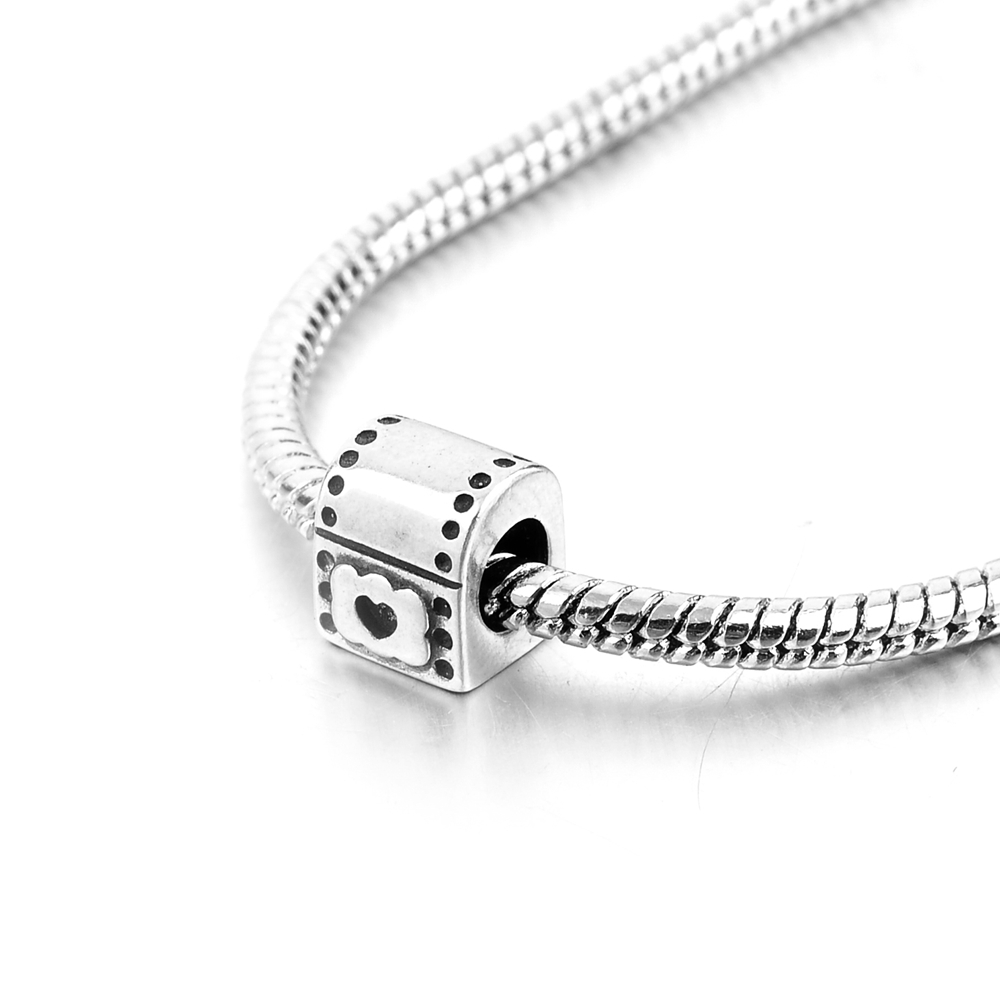 Love Heart Lock Treasure Chest Beads Girl Fit Silver 925 Authentic Original pandora Bracelet Charms For Women Fashion Jewelry in Beads from Jewelry Accessories