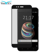 Купить с кэшбэком WeeYRN for Xiaomi Mi A1 for Xiaomi Mi 5X Tempered Glass Full Screen Protector Film protective glass for Xiaomi MI5X MI A1 MIA1