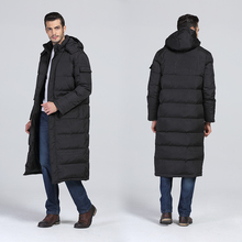 2016 Winter Men's Plus Long Design Hoodied Thermal Down Coat Male Thick 85% White Duck Down Outerwear windbreak