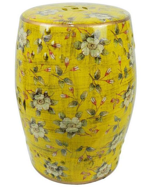 JIngdezhen Indoor Ceramic Antique Drum Porcelain Garden Stool Glazed Hand  Painted Round Ceramic Chinese Garden Stools
