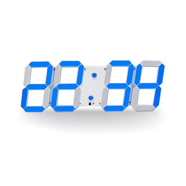 Большой Цифровой 3D LED настенные часы современный Дизайн Домашний Декор обои Саати Саат сигналы тревоги Температура Дата таймер обратного отсчета настенные часы
