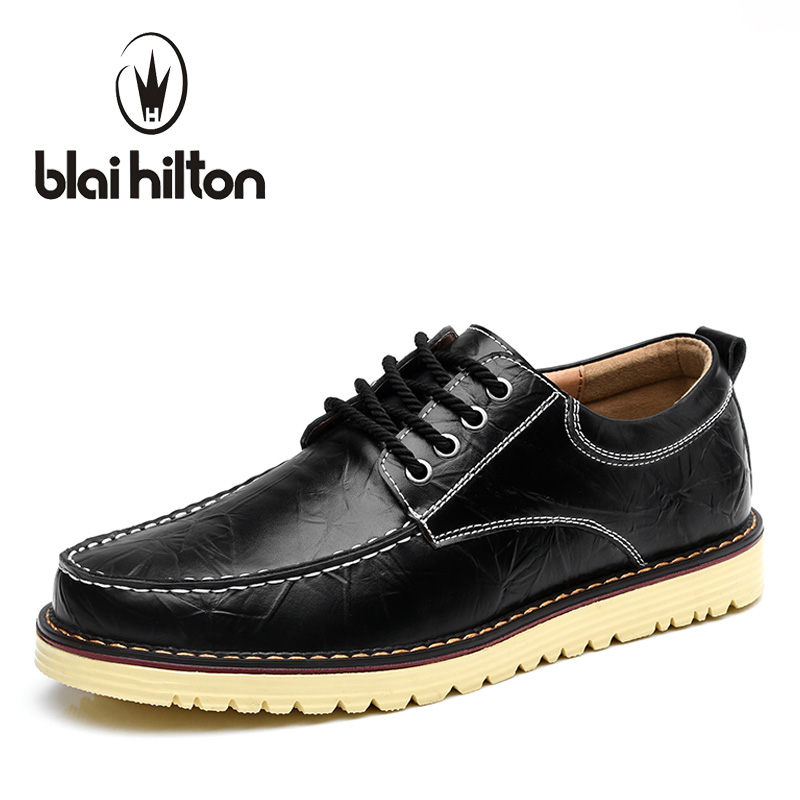 blaibilton Fashion Luxury Men Shoes Oxford Classic Genuine Leather Male Mens Casual Shoes Designer Platform Thick Sole SD7883 blaibilton formal dress men shoes oxford 100