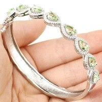 Gorgeous London Blue Topaz Woman S Wedding 925 Bracelet 8inch 7x5mm