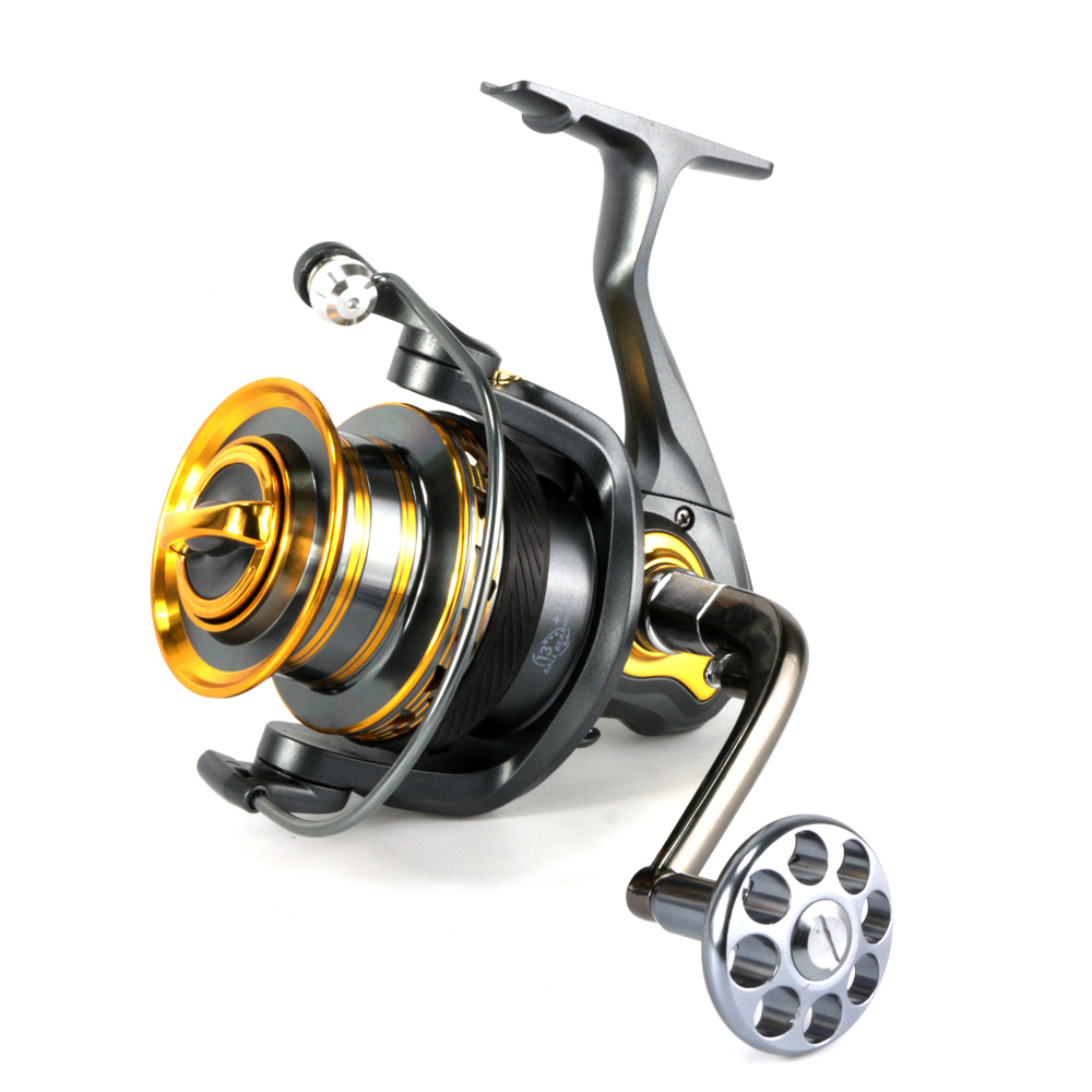 Metal distant wheel 4000-7000 series Metal Handle Spinning Fishing Reel 13+1BB Coarse Fishing Tackle Super Big Sea Fishing Wheel 10 1bb spinning fishing reel fishing tackle tool accessory super fast artificial bait sea fishing wheel dual bearing system