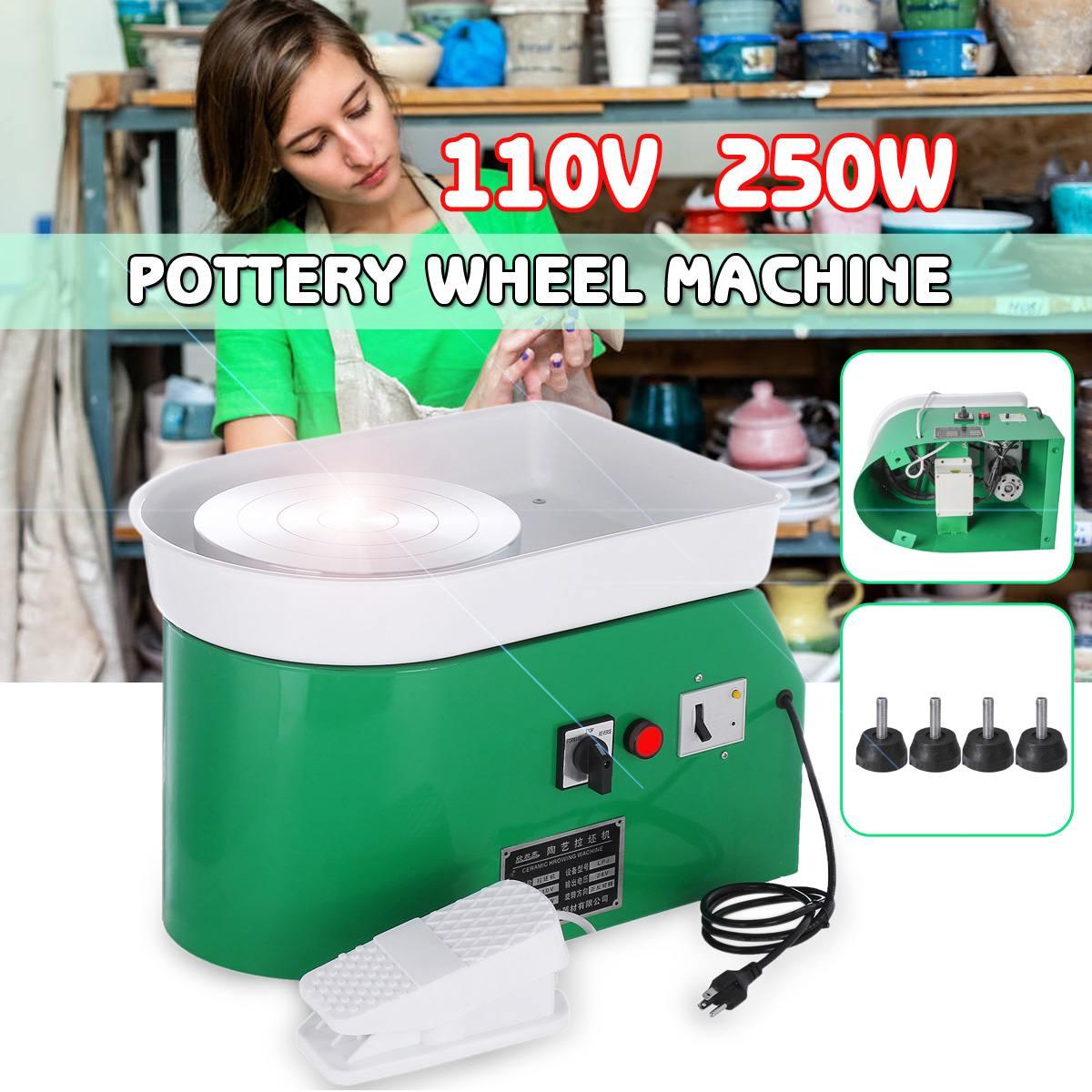 US 110 V 250 W tournant la roue de poterie électrique en céramique Machine en céramique argile potier Kit pour céramique de travail en céramique