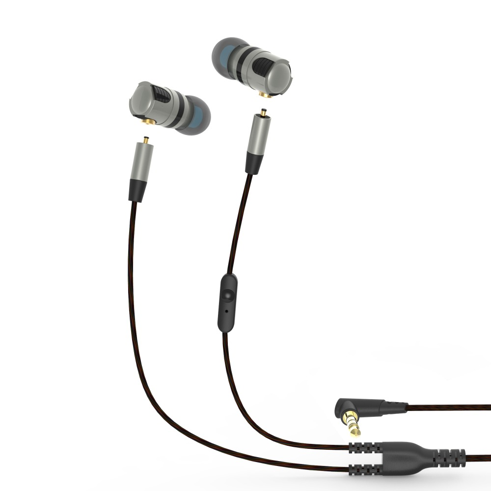 PLEXTONE X46M Universal Earphones With Mic HiFi Headset Bass Stereo Earbuds for iPhone Samsung Xiaomi Detachable Cable Headphone