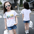 Summer KidsT-shirt  Girls Cute  printing cotton Tops Clothes new casual dress baby girl clothing children's clothes3-16T