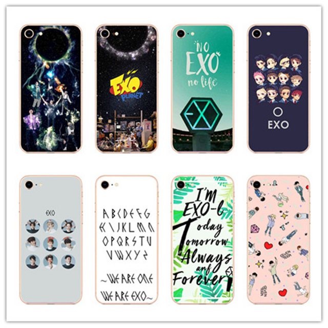 86ceaebdf81 Kpop exo Lucky one Hard Coque Shell Phone hard PC Phone Matte plastic Case  Cover For iphone 4 5 6 7 8 PLUS X Coque Fundas Capa