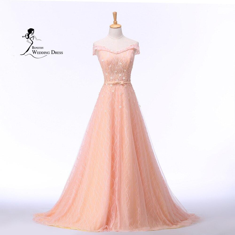 Vestido De Festa Longo off the shoulder pink Long   Evening     Dress   Party Elegant Robe De Soiree Vintag   Dresses   2019 Abendkleider