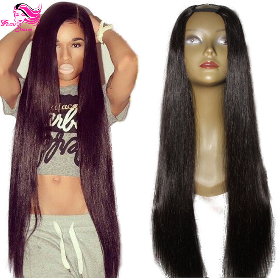 Hotsale 180% Density Middle Part Human U Part Wig Straight