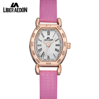 Liber Aedon Women Watches With Leather Strap Quartz High Quality Lady Watch With Gift Box
