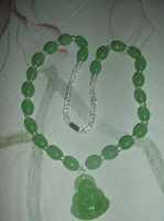 FREE SHIPPING>>>@@ > N2214 New The most fashionable modern Chinese green jade necklace