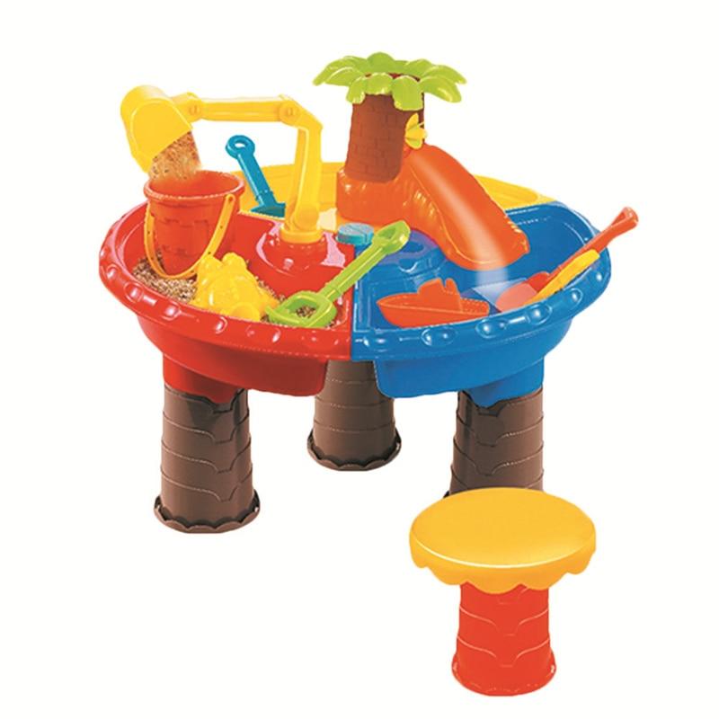 Enfants En Plein Air Jouer Sable Jouet Plage Table Ensembles Enfants Puzzle Modèle Kits de Construction Plage Jouets Multi-pièce Bébé Dragage outils