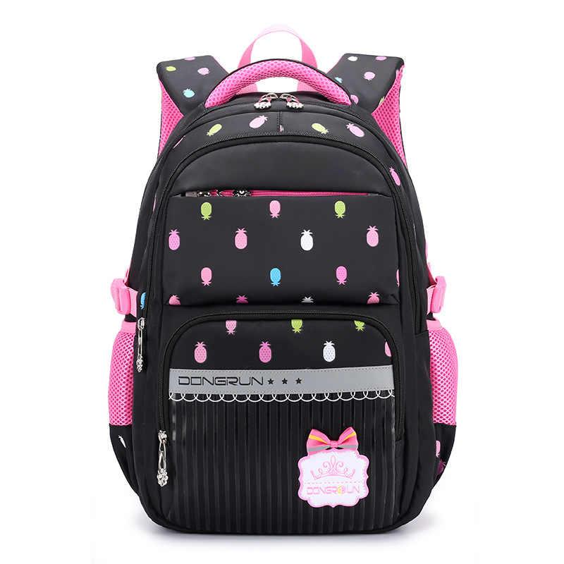 53d708f3872a 2018 Children School Bag Girls Primary school backpack Kids Satchel  princess Orthopedic Backpack schoolbag kids Mochila