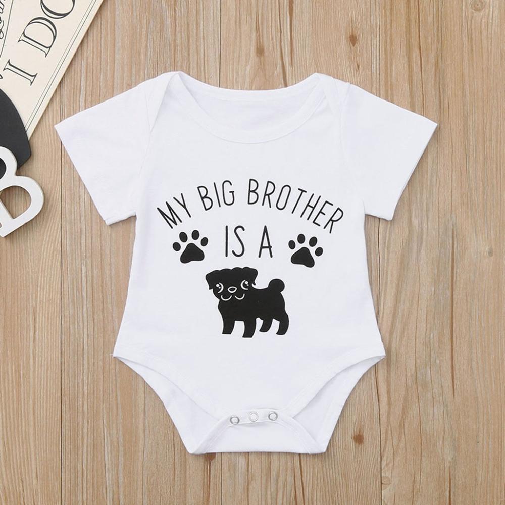 Funny Newborn Cartoon Dog Print Girls Bodysuit Infant Cotton Body Baby Children Costume Auntie Baby Clothes Real Sociedad 2