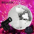 BEIAIDI dia20см 25 см 30 см Стеклянные зеркальные шары диско DJ шар с мотором и RGB луч Pinspot DJ домашние вечерние диско DJ сценический светильник