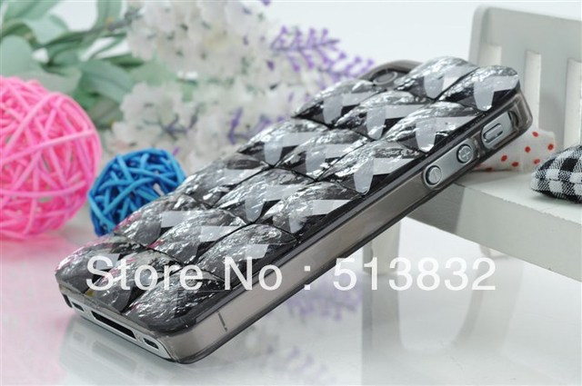 7 Colors Luxury Bling Rhinestone Leather Case Cover For Apple iPhone 5    Free  Shipping +Epacket
