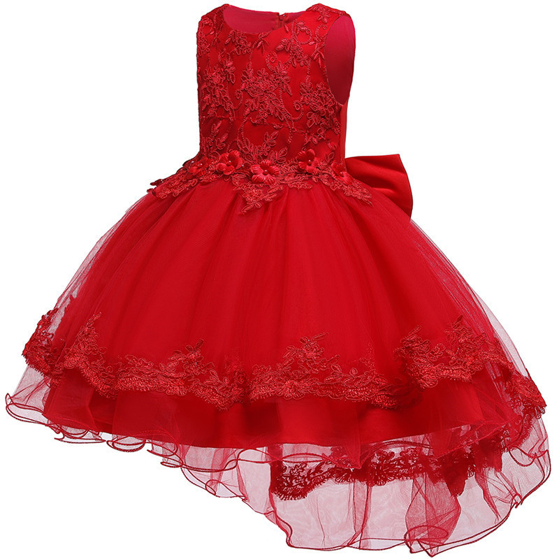 HTB15q8Ge4iH3KVjSZPfq6xBiVXa2 - Kids Princess Dresses For Girls Clothing Flower Party Girls Dress Elegant Wedding Dress For Girl Clothes 3 4 6 8 10 12 14 Years