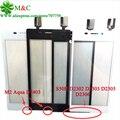 Branco preto m2 touch panel para sony xperia m2 aqua d2403 M2 S50H D2302 D2303 D2305 D2306 Digitador Da Tela de Toque Com Rastreamento